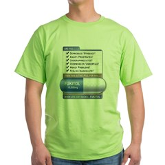 Fukitol Ash Grey Green T-Shirt