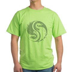 yinyangDragon1Black Green T-Shirt