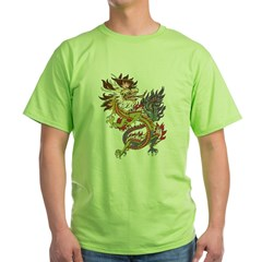 dragon10Black Green T-Shirt