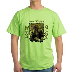 Lion of Judah 11 Ash Grey Green T-Shirt