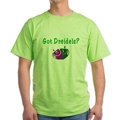 Got Dreidels Hanukkah Green T-Shirt