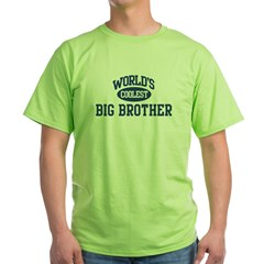 Coolest Big Brother Ash Grey Green T-Shirt