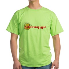 schnitzengiggle-black Green T-Shirt