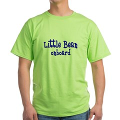 Little bean onboard blue Green T-Shirt