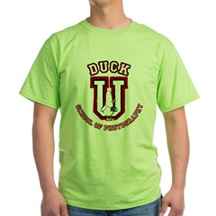 What the Duck University Ash Grey Green T-Shirt