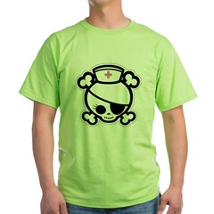 Nurse Molly II-bw Green T-Shirt