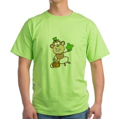 Leprechaun Monkey Green T-Shirt