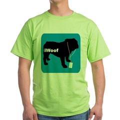 iWoof Bulldog Green T-Shirt