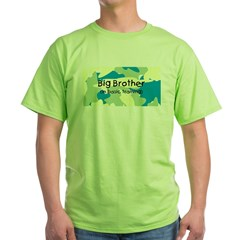 Big Bro in Training Camo on Green T-Shirt