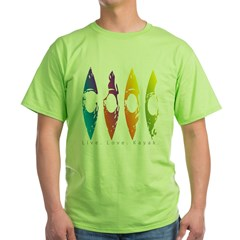 kayakgirlz_design001-07.jpg Green T-Shirt