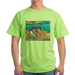 Beach Chairs Green T-Shirt