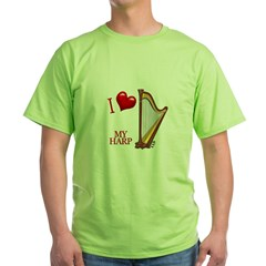I Love My HARP Green T-Shirt