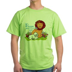 Lion & Lamb Peace On Earth Green T-Shirt