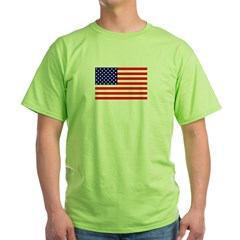 AMERICAN FLAG Green T-Shirt