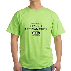 Property of a Timneh African Grey Light TShir Green T-Shirt