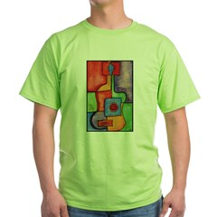 Colorful Guitar Green T-Shirt