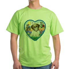 Shih Tzu in my heart (P) Green T-Shirt