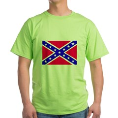 Rebel Flag Green T-Shirt