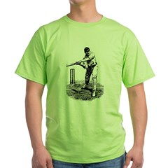 Cricket Player Green T-Shirt