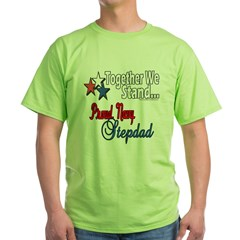 Proud Navy Stepdad Green T-Shirt