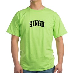 SINGH (curve-black) Green T-Shirt