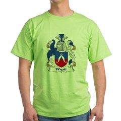 Wyatt Family Crest Green T-Shirt