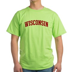 WISCONSIN (red) Green T-Shirt