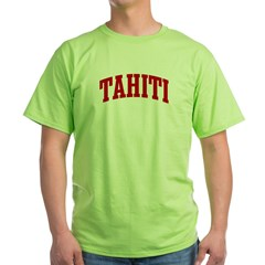 TAHITI (red) Green T-Shirt