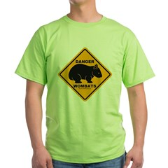 Wombat Danger Green T-Shirt