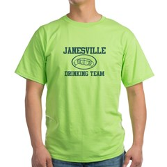 JANESVILLE drinking team Green T-Shirt