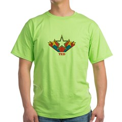 TED superstar Green T-Shirt