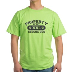 Rescue Dog PROPERTY Green T-Shirt