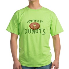 Powered By Donuts Green T-Shirt