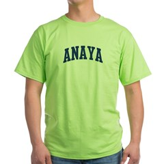 ANAYA design (blue) Green T-Shirt