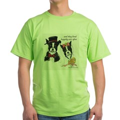 A Boston Wedding Green T-Shirt