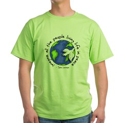 Imagine - World - Live in Peace Green T-Shirt