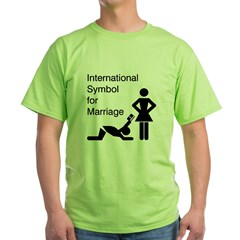 Symbol for Marriage Green T-Shirt