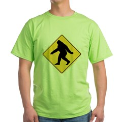 Big Foot Crossing Green T-Shirt