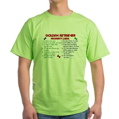 Golden Retriever Property Laws 2 Green T-Shirt