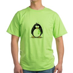 Light Green Ribbon Penguin Green T-Shirt
