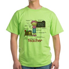 Anatomy of a Teacher Green T-Shirt