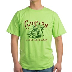 Camping Makeup Green T-Shirt