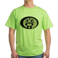 Math Bot E=mc2 Green T-Shirt
