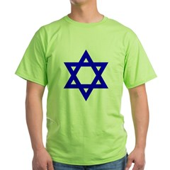 Star of David Blue Green T-Shirt