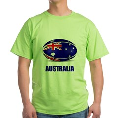Rugby ball Green T-Shirt