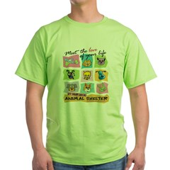 Meet Love Life z10x10 Green T-Shirt