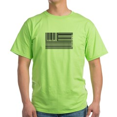 barcode flag Green T-Shirt