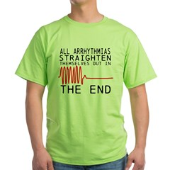 Arrhythmias Green T-Shirt