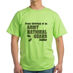 National Guard Girlfriend (tags) Green T-Shirt