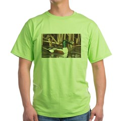 Shoveler Ducks Ash Grey Green T-Shirt